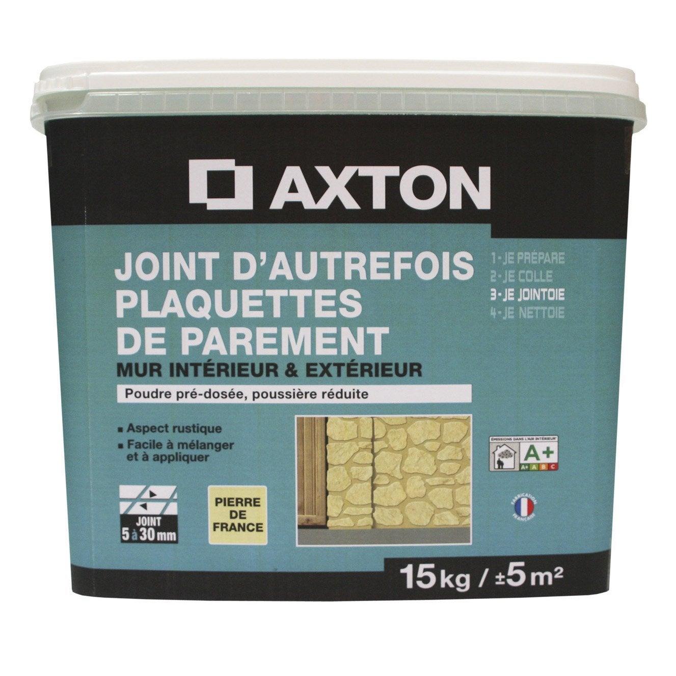 joint poudre plaquette de parement axton gris 15 kg leroy merlin. Black Bedroom Furniture Sets. Home Design Ideas