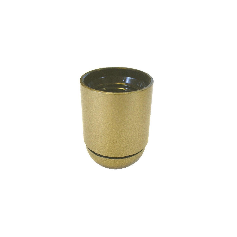 douille lisse e27 tibelec plastique or 60 w leroy merlin. Black Bedroom Furniture Sets. Home Design Ideas