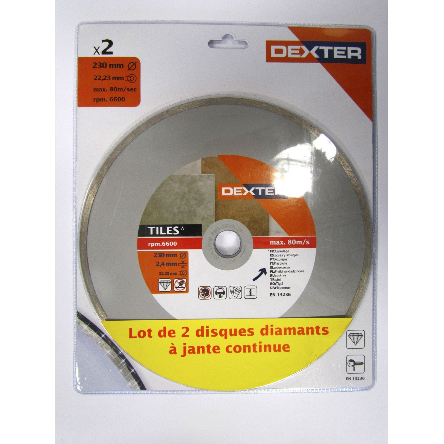 lot 2 disques diamant plein tron onner pour carrelage dexter mm leroy merlin. Black Bedroom Furniture Sets. Home Design Ideas