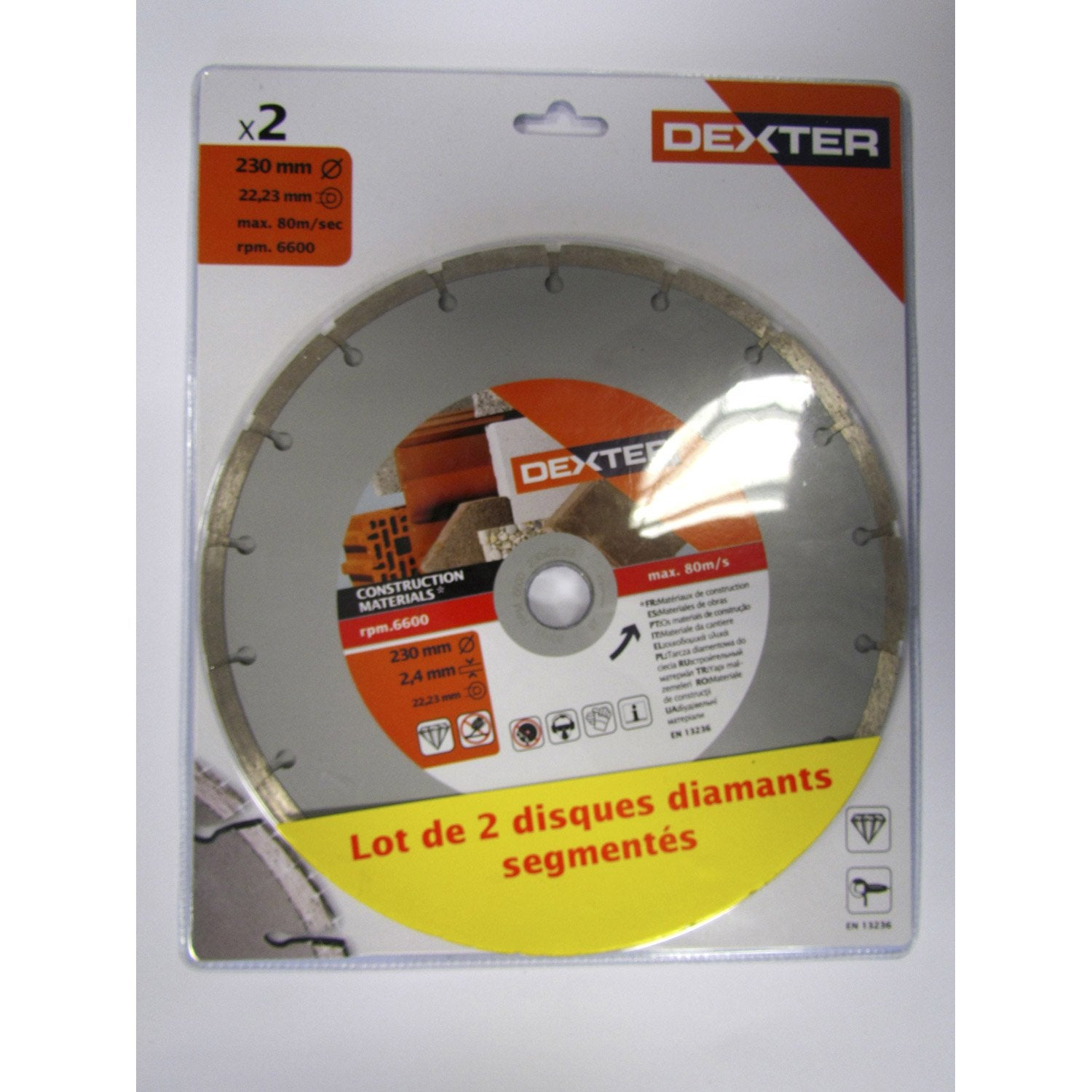 2 disques diamant tron onner pour mat riaux de construction dexter 230 mm leroy merlin. Black Bedroom Furniture Sets. Home Design Ideas