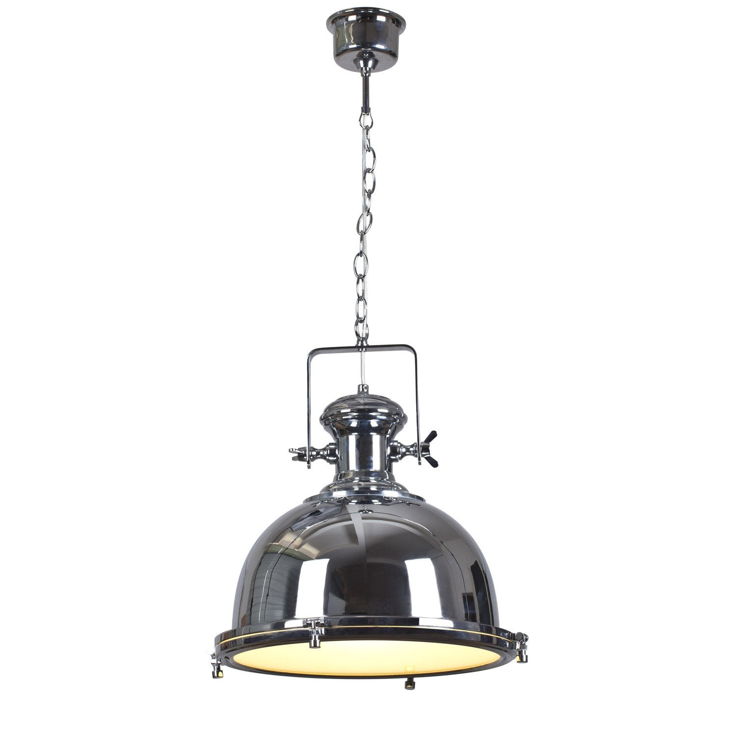 Suspension industriel old burdi m tal chrome 1 x 60 w lucide leroy merlin - Suspensions leroy merlin ...