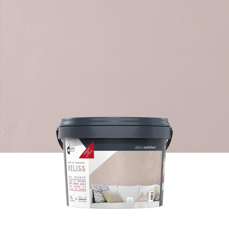 Peinture à effet, Reliss 2 en 1 MAISON DECO, bois de rose, 15 kg  ~ Peinture Bois De Rose