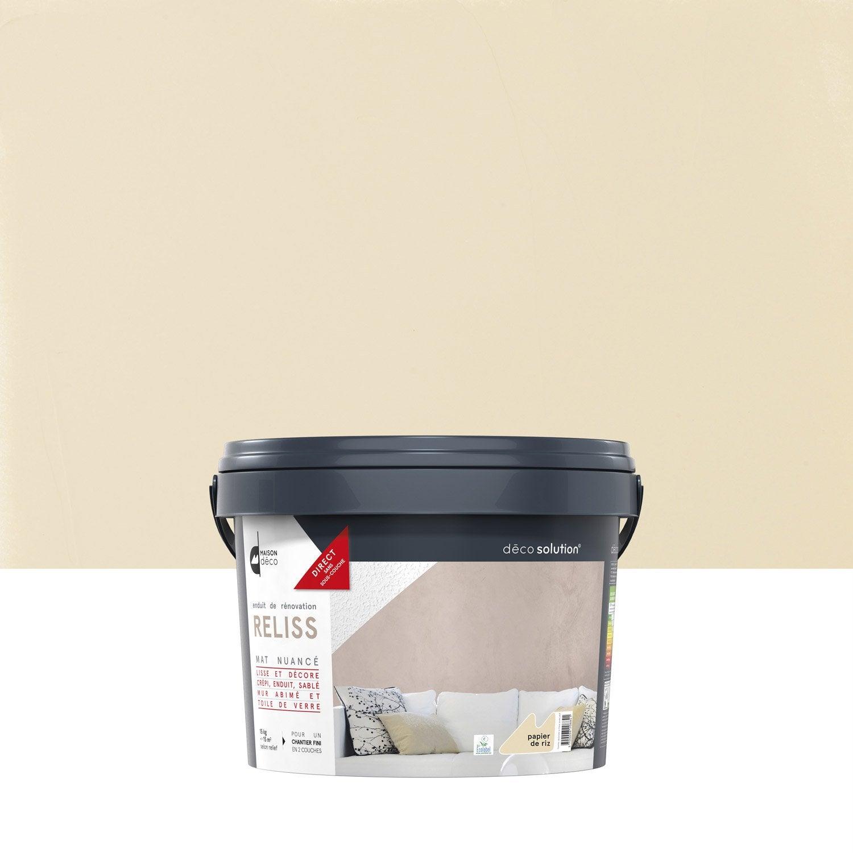 Enduit d coratif reliss 2 en 1 maison deco papier de riz 15 kg leroy merlin - Enduit decoratif cuisine ...