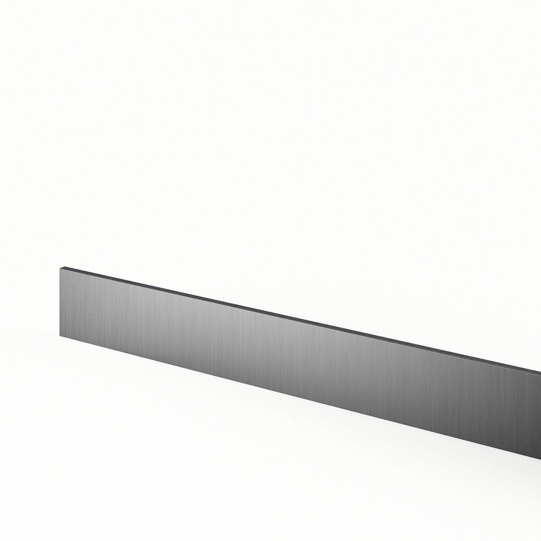 plinthe de cuisine d cor aluminium stil l 270 x h 14 9 cm leroy merlin. Black Bedroom Furniture Sets. Home Design Ideas