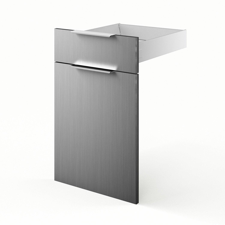 Porte tiroir de cuisine d cor aluminium fd45 stil l45 x for Porte cuisine aluminium