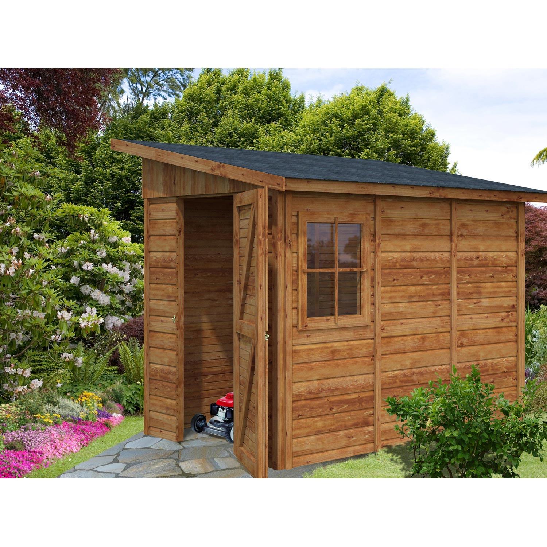 abri de jardin bois aravis mm leroy merlin. Black Bedroom Furniture Sets. Home Design Ideas