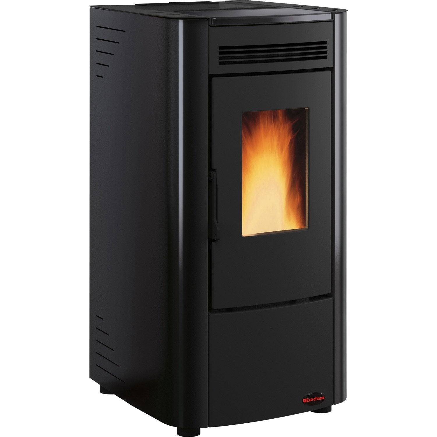 po le granul s extraflame ketty noir 6 3 kw leroy merlin. Black Bedroom Furniture Sets. Home Design Ideas