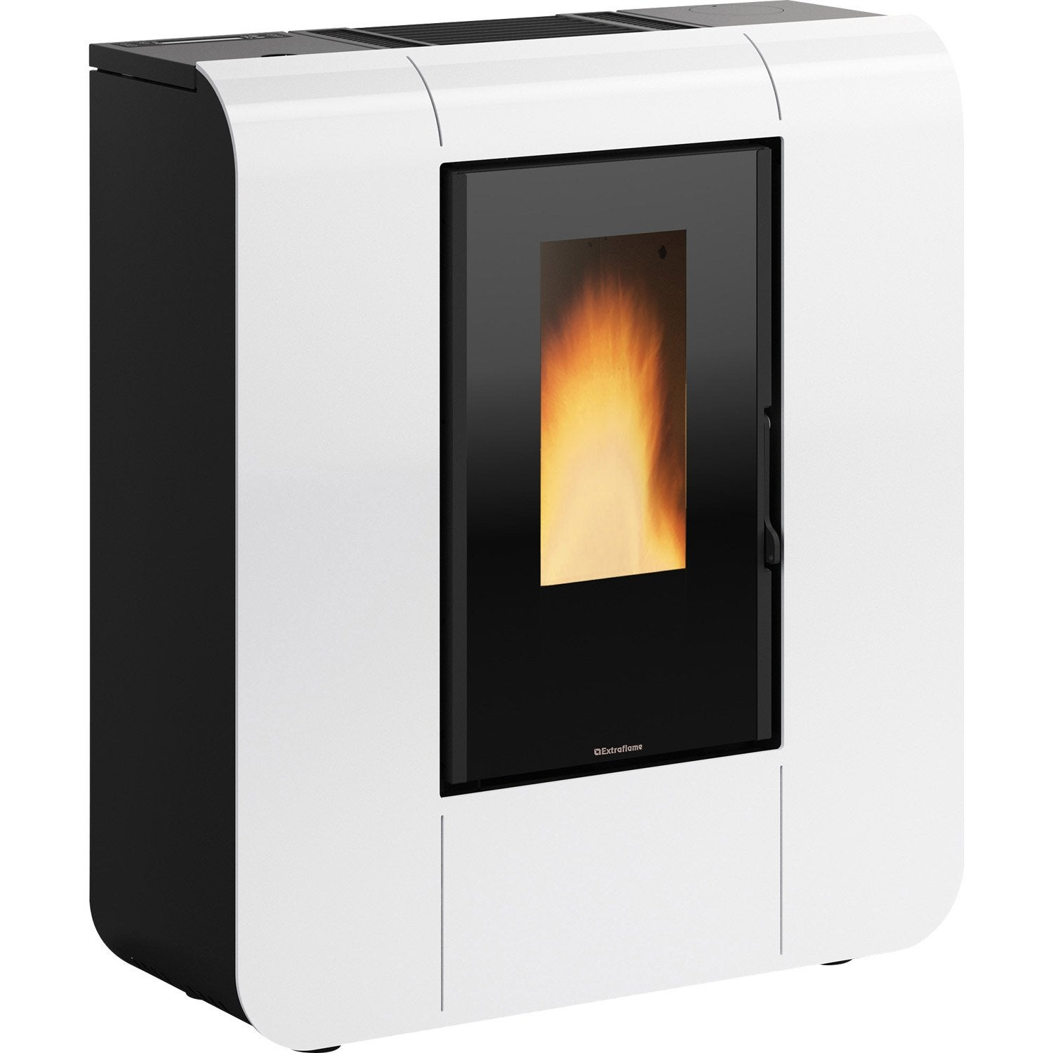 po le granul s extraflame glenda wifi blanc 6 kw leroy. Black Bedroom Furniture Sets. Home Design Ideas