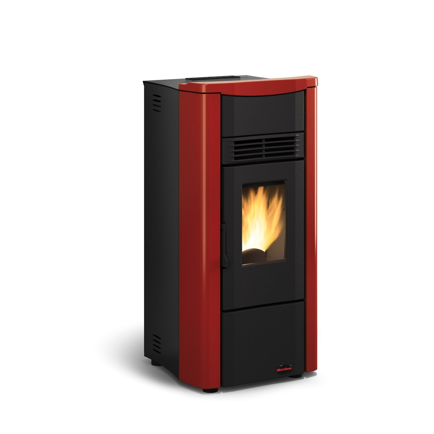po le granul s extraflame giusy plus bordeaux 8 kw leroy merlin. Black Bedroom Furniture Sets. Home Design Ideas