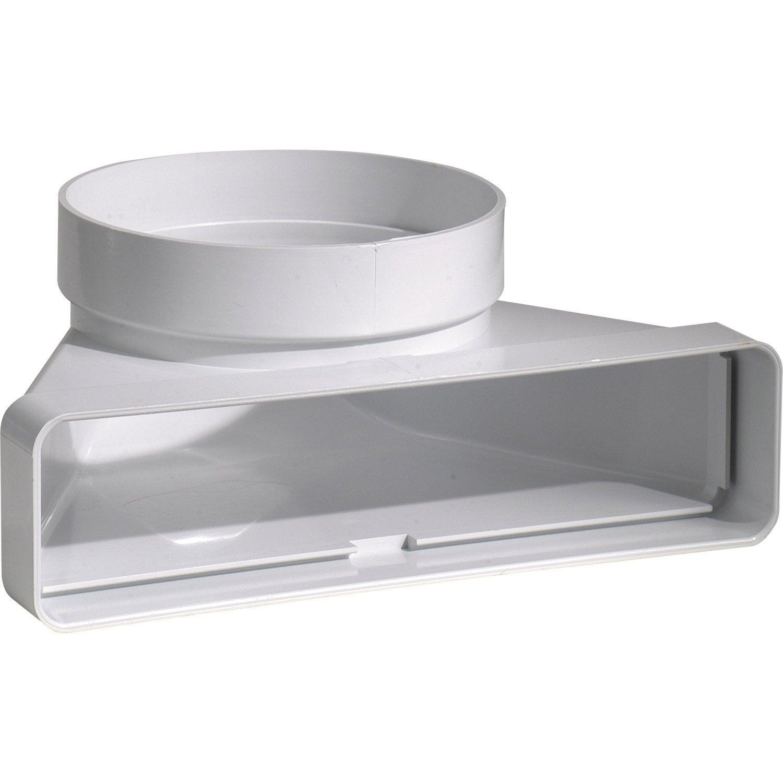 Hotte Aspirante Tube dedans coude mixte rectangulaire pvc s p 125 mm 125 mm leroy - leroy merlin