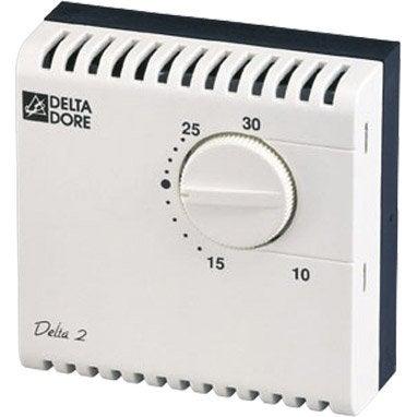 thermostat d 39 ambiance filaire delta dore leroy merlin. Black Bedroom Furniture Sets. Home Design Ideas