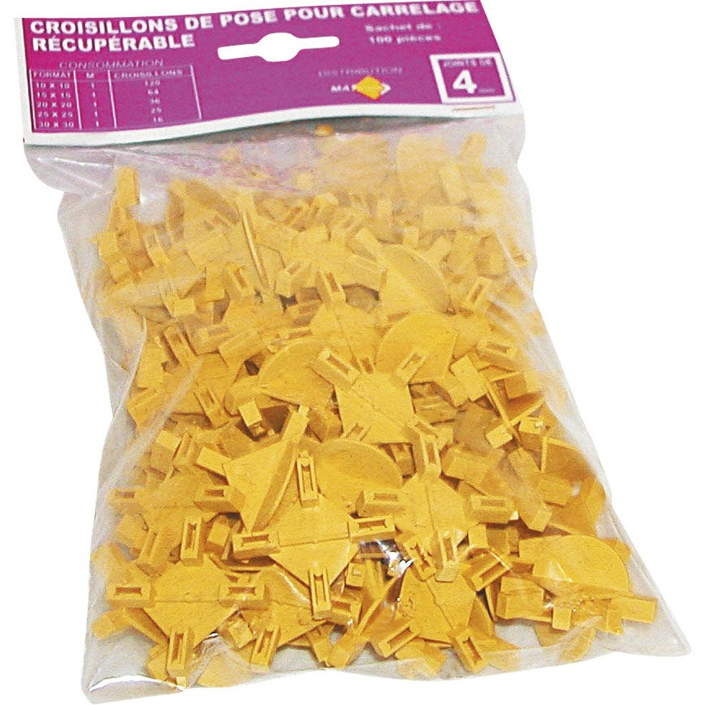 100 croisillons r cup rables paisseur 5mm leroy merlin for Croisillon carrelage