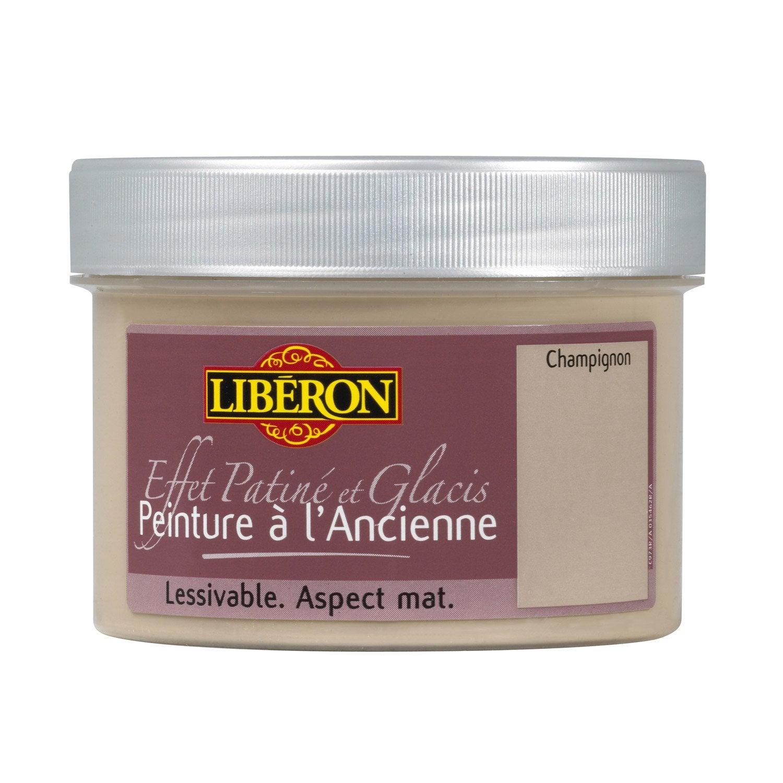 Peinture l 39 ancienne liberon taupe 250 ml leroy merlin for Peinture patinee pour meuble