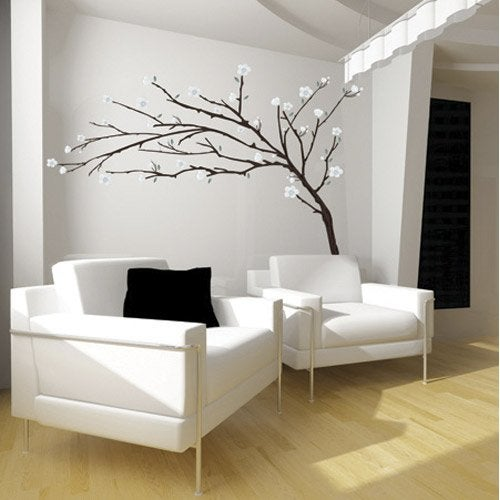sticker branche design 50 cm x 70 cm leroy merlin. Black Bedroom Furniture Sets. Home Design Ideas