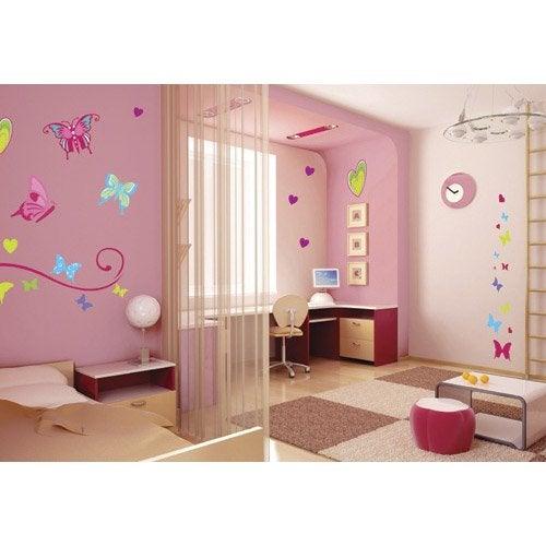 sticker papillons 50 cm x 70 cm leroy merlin. Black Bedroom Furniture Sets. Home Design Ideas