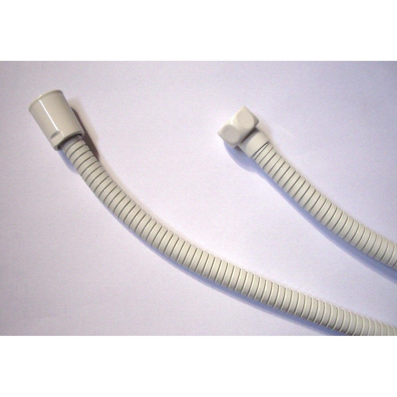Flexible de douche nf sensea inox double agrafage 175cm blanc leroy merlin - Leroy merlin flexible douche ...
