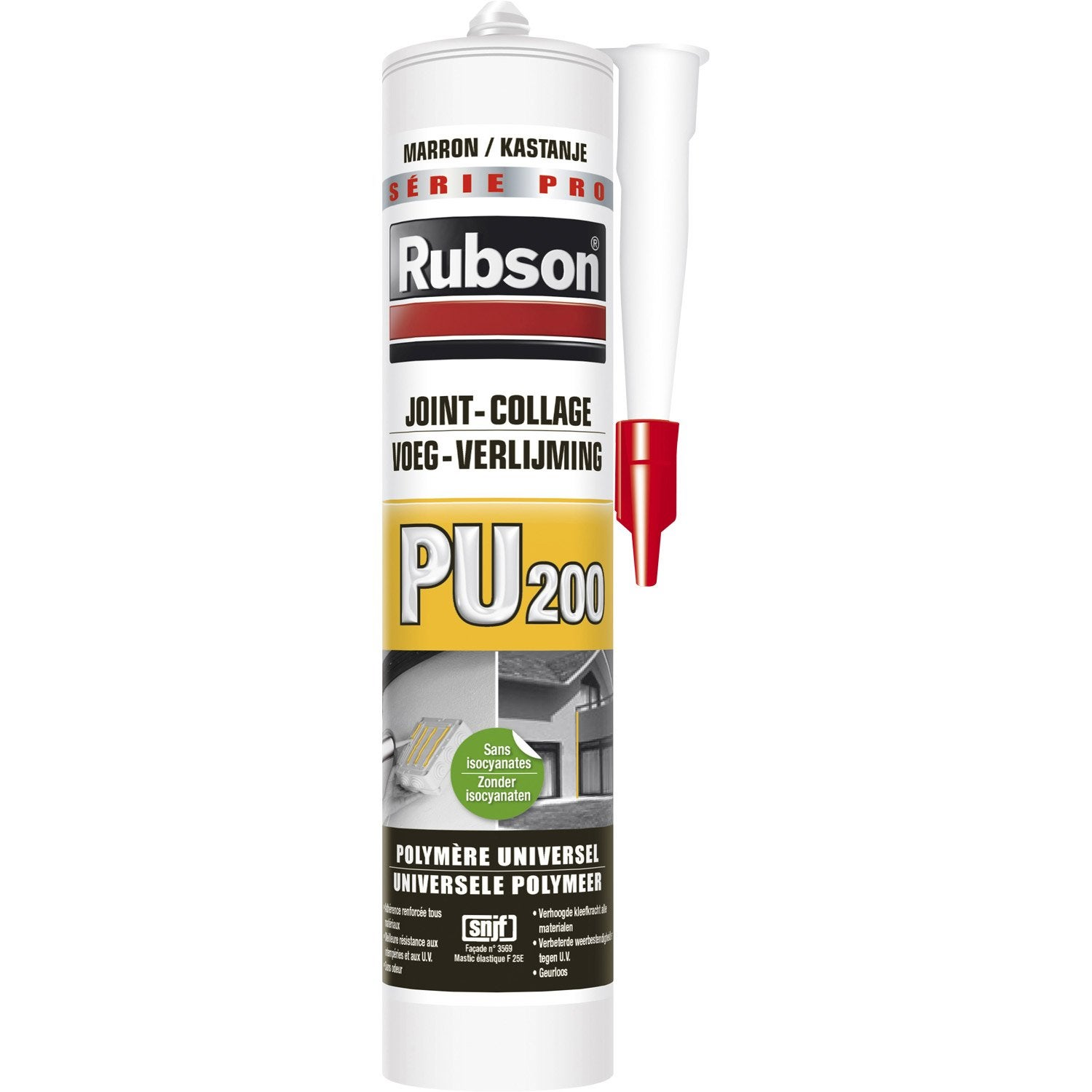 Mastic colle rubson 280 ml marron leroy merlin for Peinture haute temperature leroy merlin