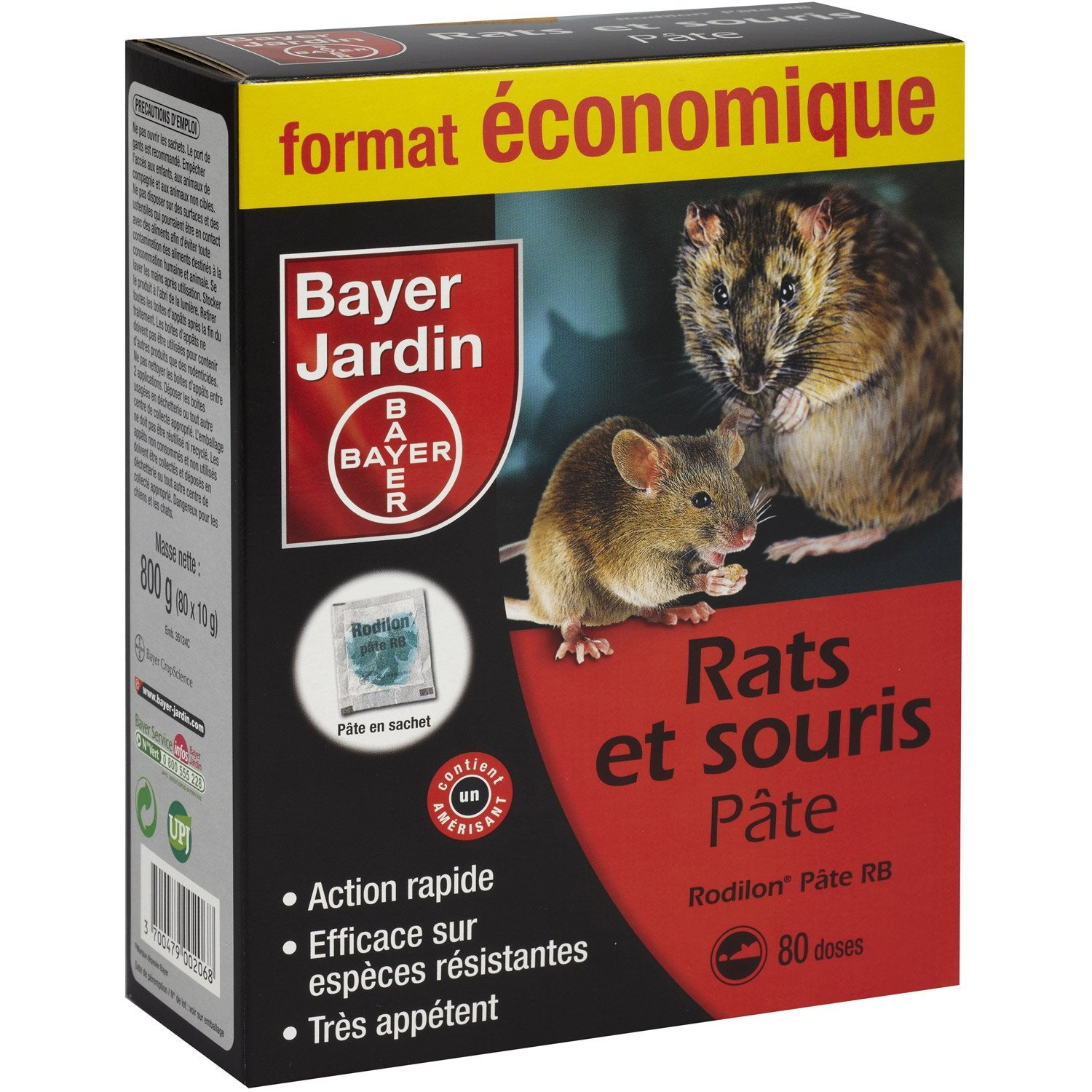 Recharge anti rats et souris bayer 800 g leroy merlin for Bayer jardin decis j