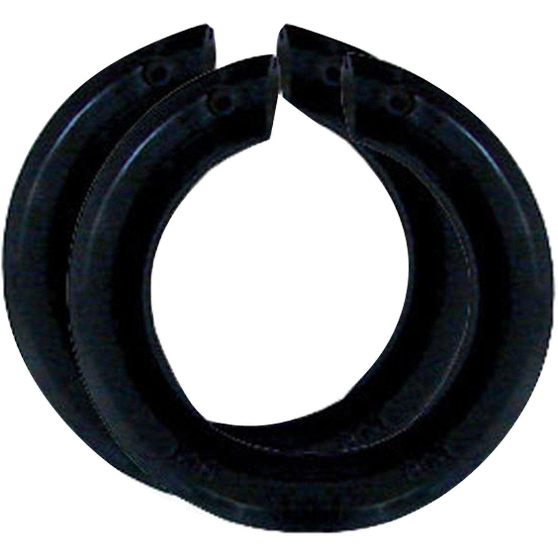 lot de 2 bagues abat jour b22 e14 tibelec plastique noir leroy merlin. Black Bedroom Furniture Sets. Home Design Ideas