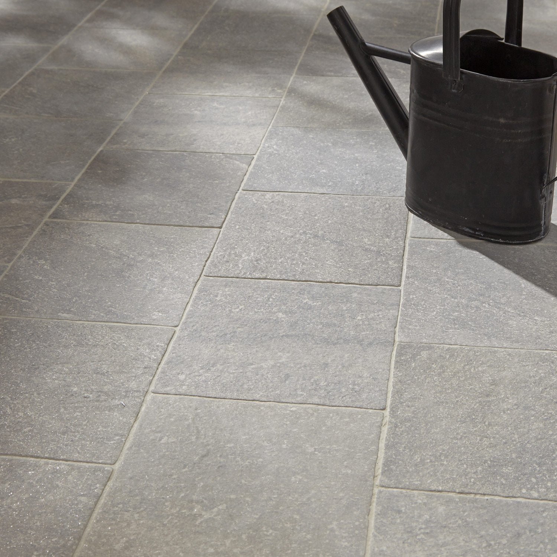 carrelage ext rieur stone en gr s c rame maill gris 21 6 x 21 6 cm leroy merlin. Black Bedroom Furniture Sets. Home Design Ideas