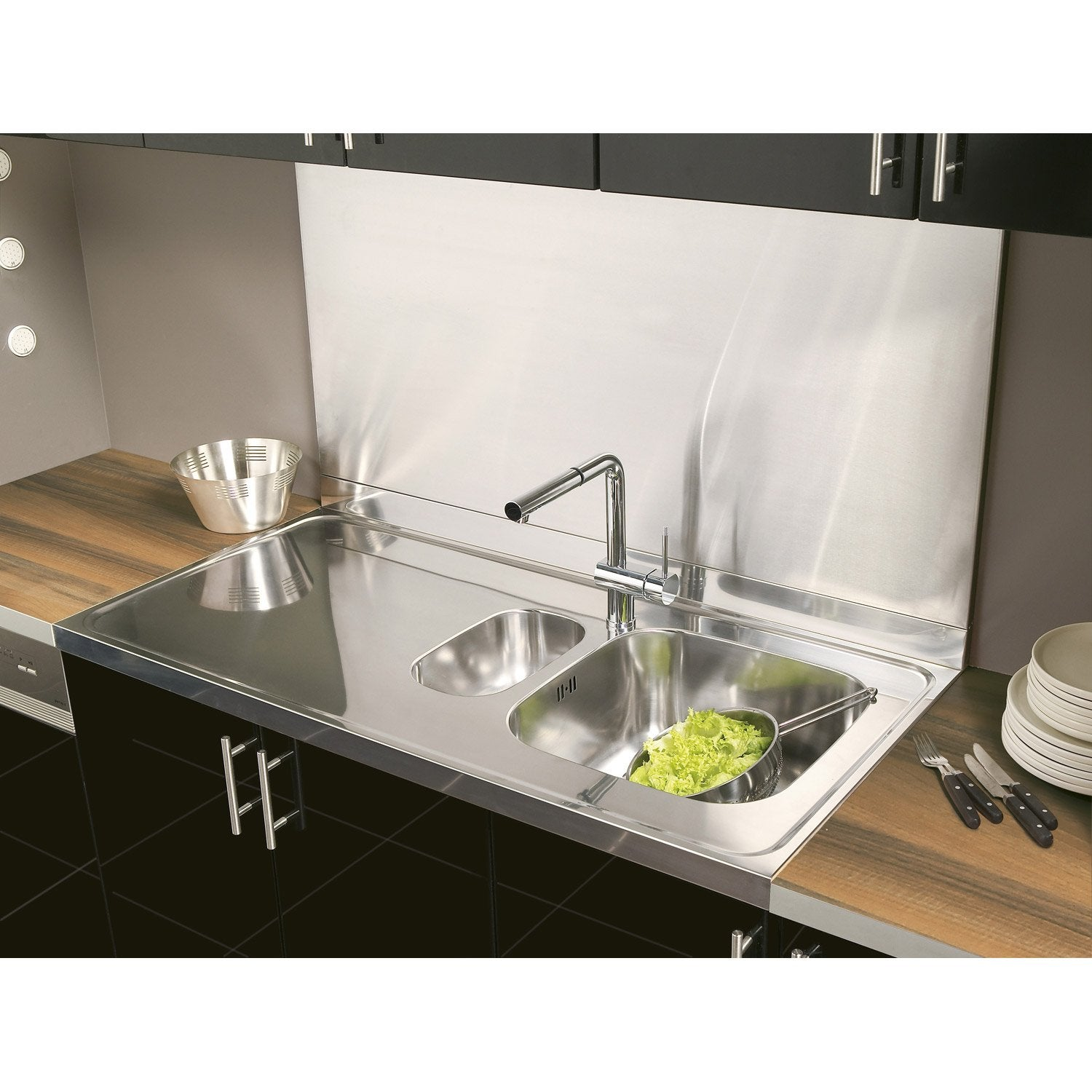 Cr dence inox cm x cm leroy merlin for Credence pour plan de travail