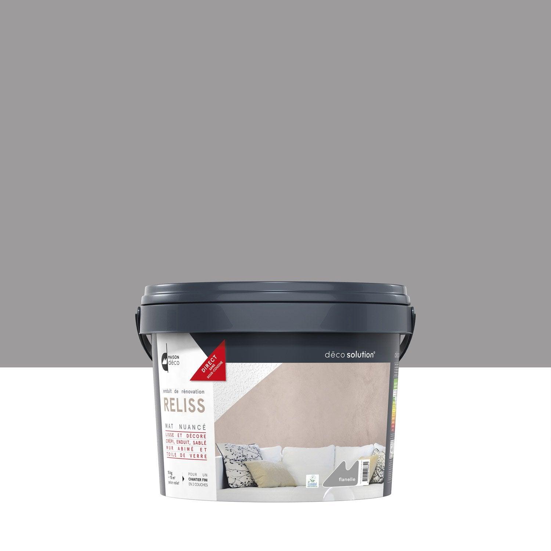 enduit d coratif reliss 2 en 1 maison deco flanelle 15 kg leroy merlin. Black Bedroom Furniture Sets. Home Design Ideas
