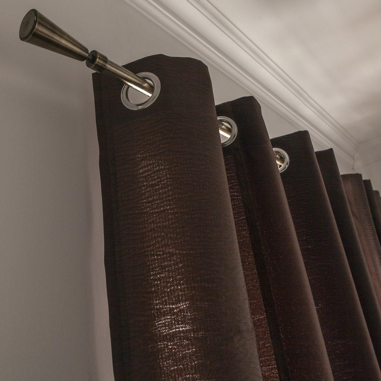 rideau tamisant sanford chocolat x cm leroy merlin. Black Bedroom Furniture Sets. Home Design Ideas