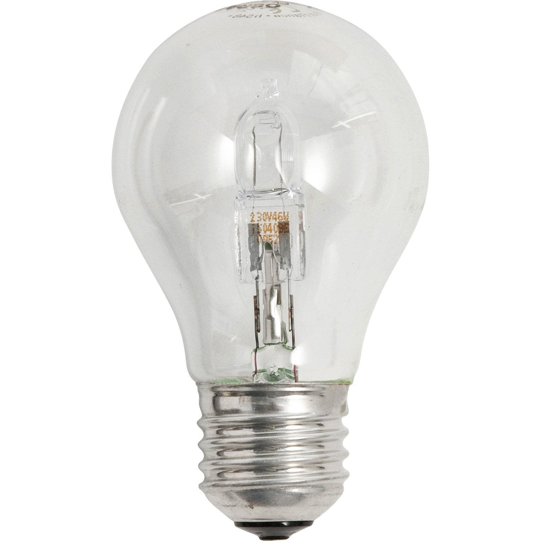 lot de 4 ampoules halog nes 46w 700 lumens quiv 60w e27 2700k osram leroy merlin. Black Bedroom Furniture Sets. Home Design Ideas
