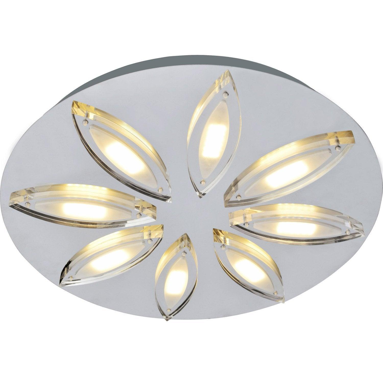 plafonnier design led integree obera metal chrome brosse 8 x 230 w inspire Résultat Supérieur 15 Nouveau Applique Plafond Leroy Merlin Photos 2018 Phe2