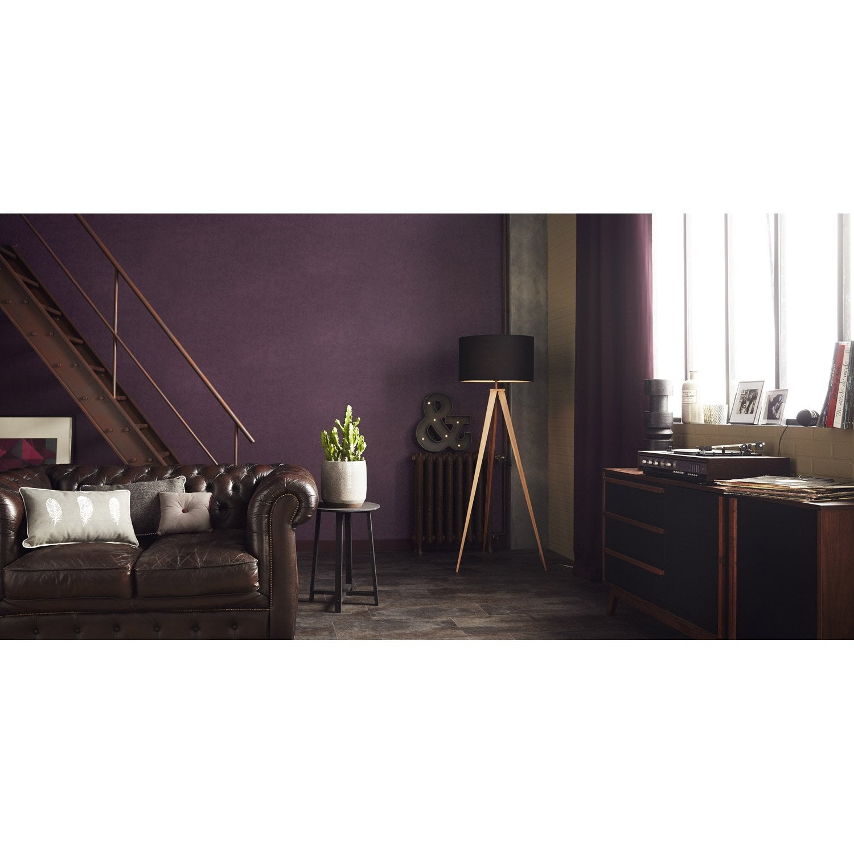 Papier peint uni feuille violet leroy merlin - Feuille stratifie a coller leroy merlin ...