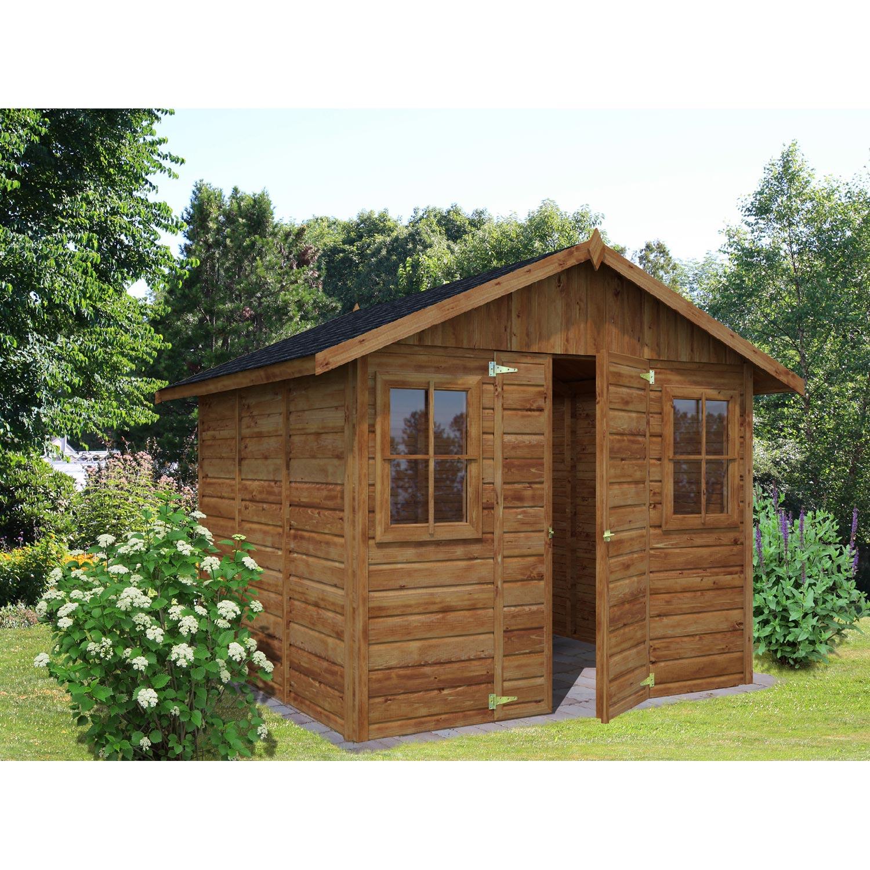 Abri de jardin bois colombiere m mm leroy merlin - Leroy merlin abri jardin bois caen ...
