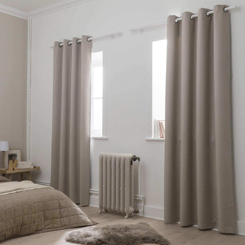 rideau gravier caille x cm leroy merlin. Black Bedroom Furniture Sets. Home Design Ideas