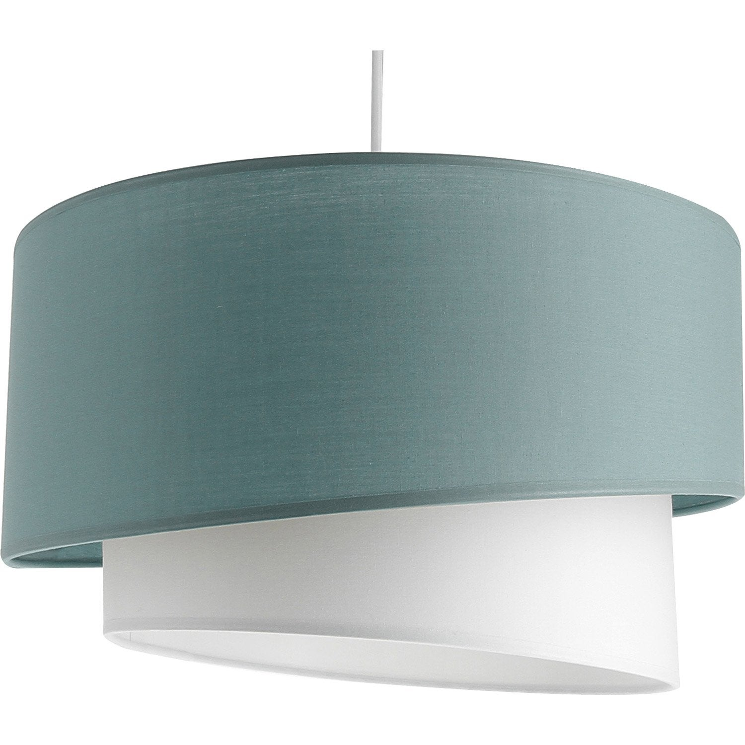 Suspension moderne ionos coton bleu baltique n 3 1 x 60 w for Suspension bleu