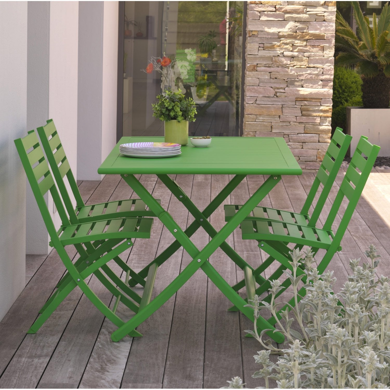 awesome salon de jardin couleur vert photos. Black Bedroom Furniture Sets. Home Design Ideas