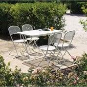 Salon de jardin Voila blanc, 4 personnes