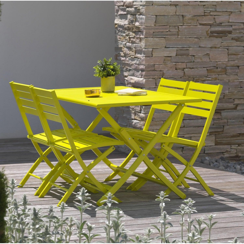 Salon de jardin marius jaune 4 personnes leroy merlin - Leroy merlin jardin lognes argenteuil ...