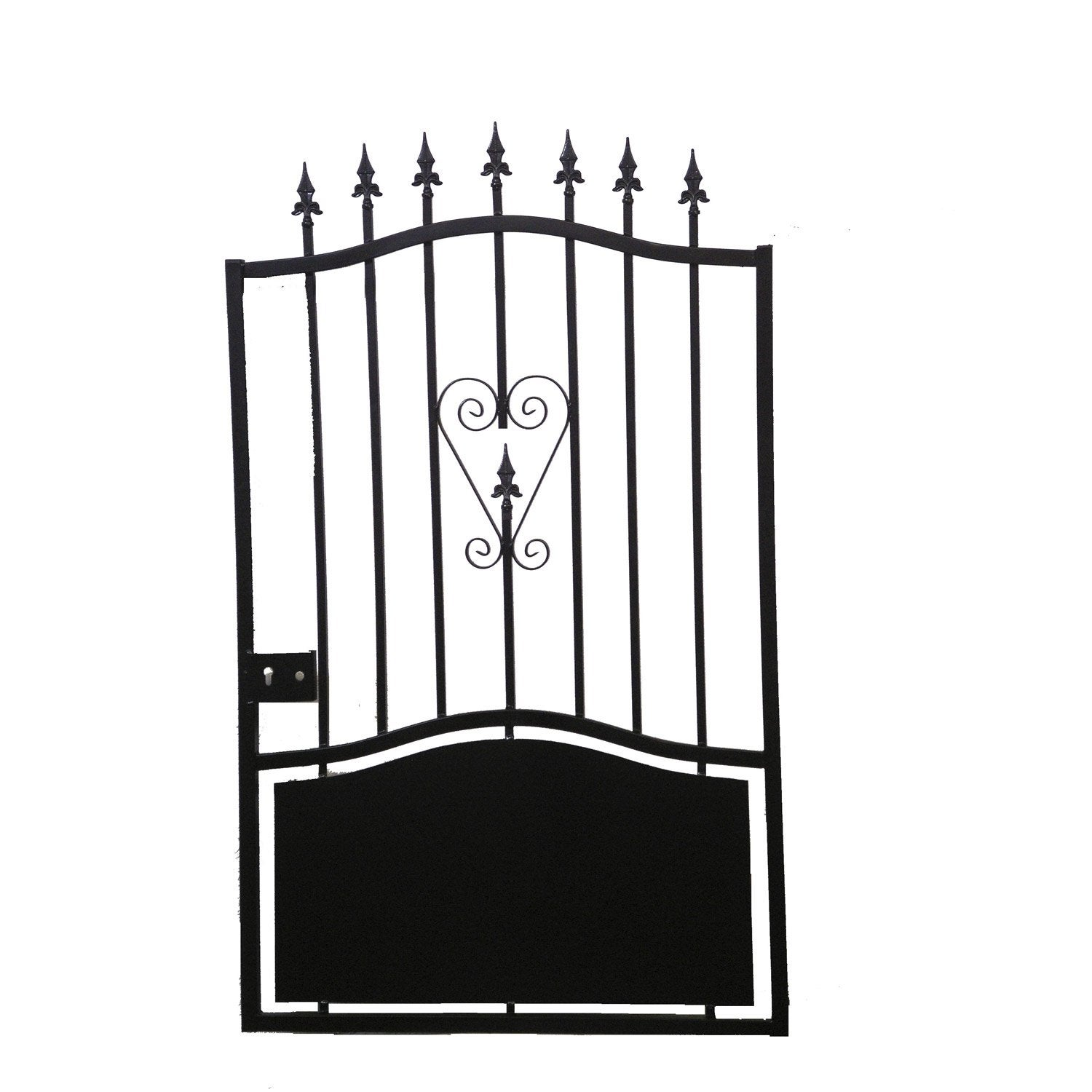 Portillon battant en fer colombe cm leroy merlin for Portail de jardin en fer
