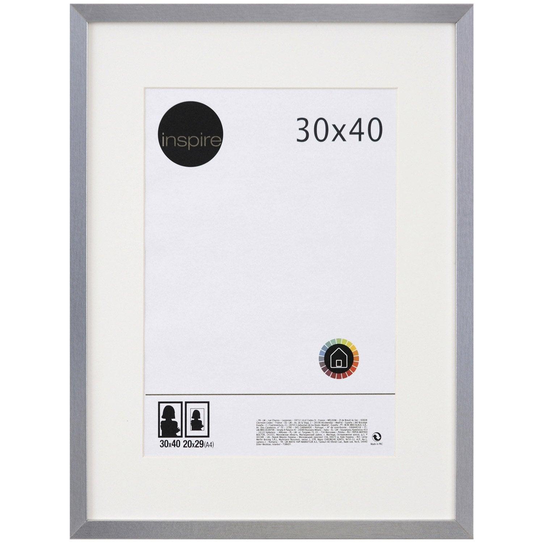 cadre lario 30 x 40 cm argent leroy merlin