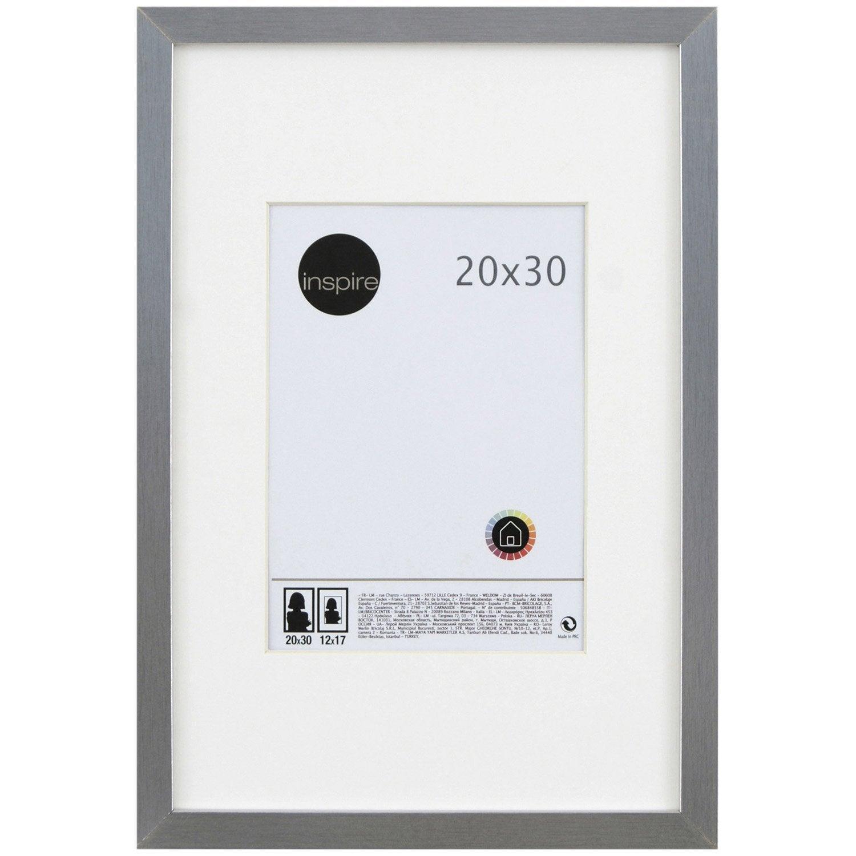 Cadre lario 20 x 30 cm argent leroy merlin - Leroy merlin cadre photo ...