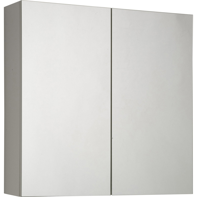 Armoire de toilette cm blanc modulo leroy merlin for Meuble mural rangement toilette