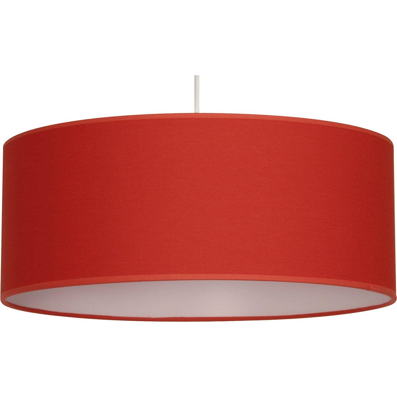 Suspension e27 natt coton rouge rouge n 5 1 x 60 w for Suspension cuisine rouge