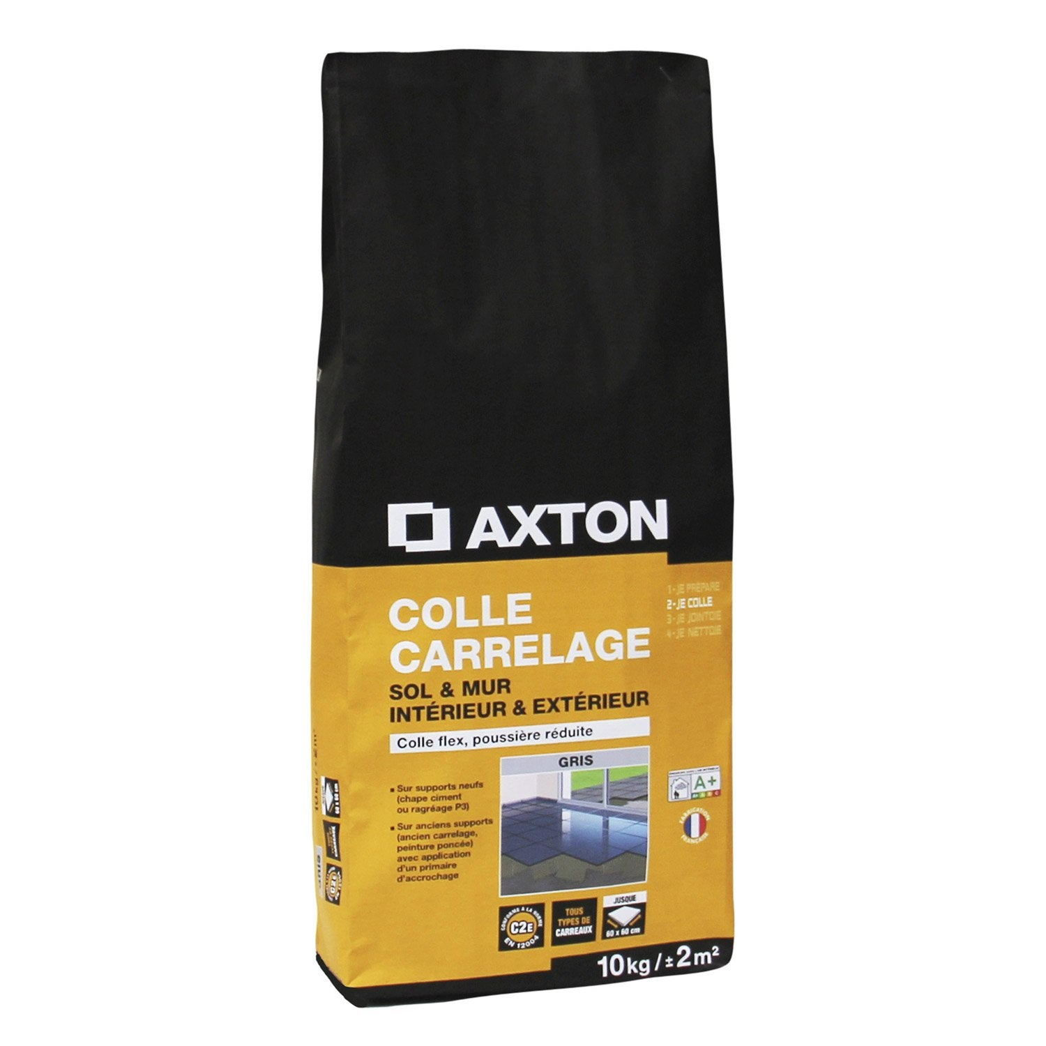 Mortier colle flexible pour carrelage mur et sol 10 kg - Colle carrelage flex ...