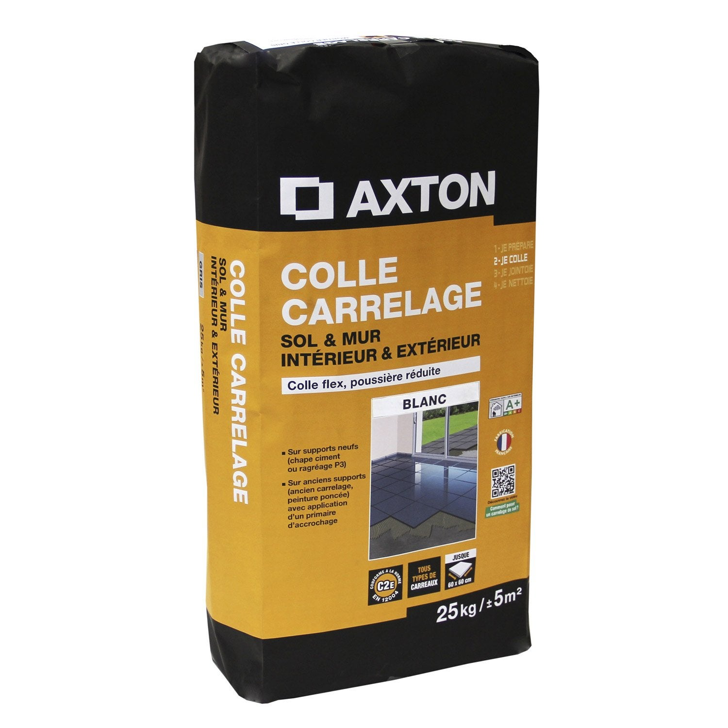 Mortier colle flexible pour carrelage mur et sol 25 kg for Calcul colle carrelage