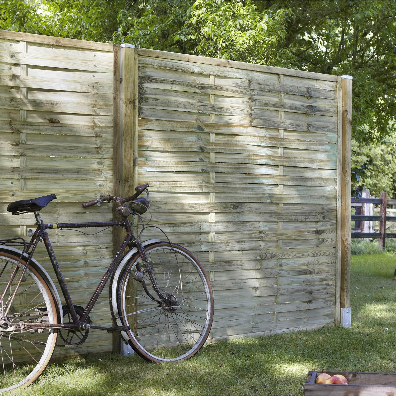 Panneau bois occultant natura cm x cm - Leroy merlin panneaux bois ...
