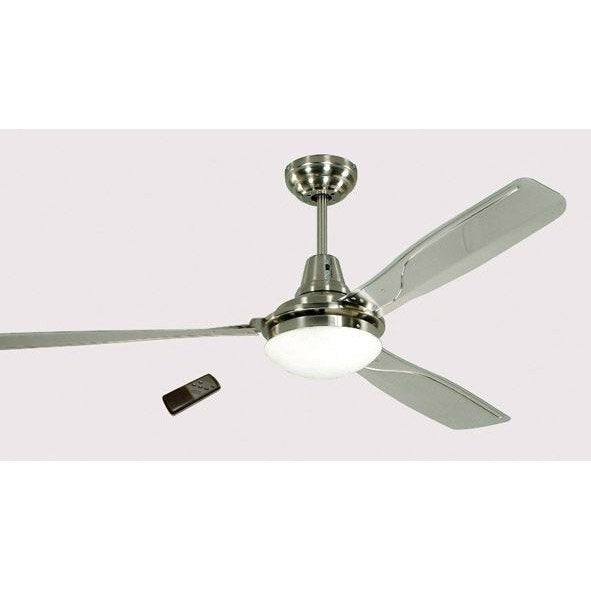 Ventilateur de plafond am lia gris 60 w leroy merlin for Ventilateur de terrasse