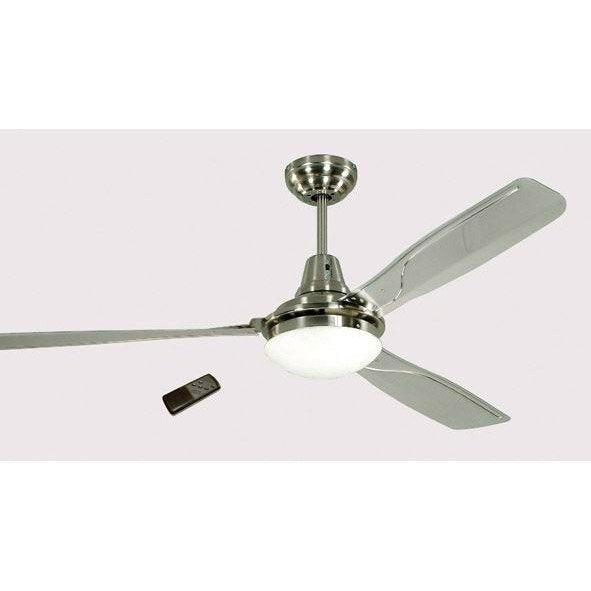Ventilateur de plafond am lia gris 60 w leroy merlin for Ventilateur de plafond telecommande