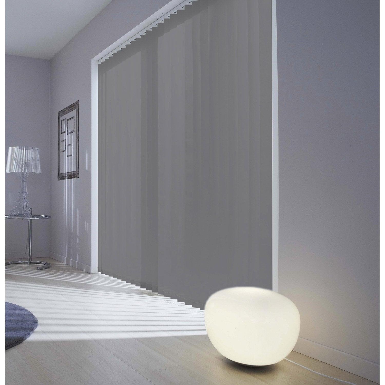 Kit complet rail lamelles verticales orientables inspire blanc - Rideau de porte exterieur leroy merlin ...
