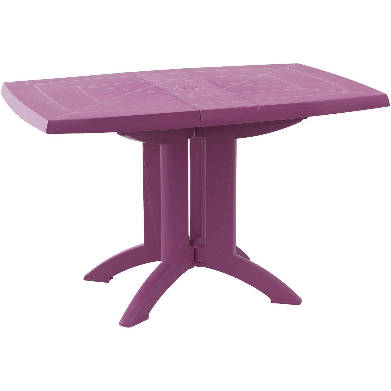 Table de jardin grosfillex v ga rectangulaire fuschia 4 for Table exterieur grosfillex