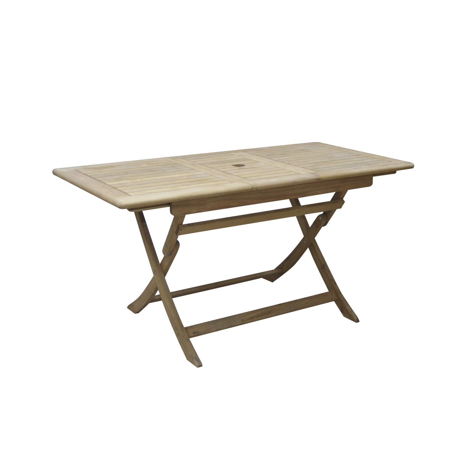 Extension de table de jardin rectangulaire robin naterial leroy merlin - Table de jardin ronde robin naterial ...