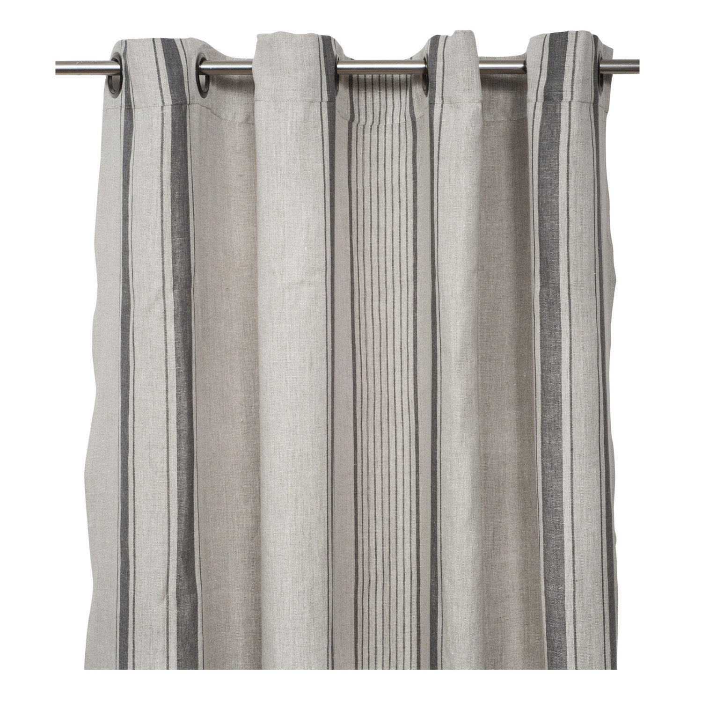 rideau tamisant florence lin et gris x cm leroy merlin. Black Bedroom Furniture Sets. Home Design Ideas